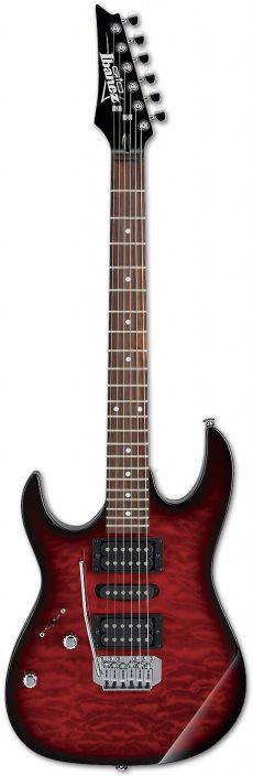 Guitarra Ibanez GRX70QAL | Canhoto | Transparent Red Burst (TRB)
