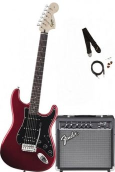 Kit Fender Squier Guitarra Affinity Stratocaster Pack HSS | 030 1814 | Amp Fender Frontman 15G | Candy Apple Red (009)