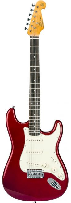 Guitarra SX SST 62+ | Strato | Escala em Rosewood | SSS | Candy Apple Red