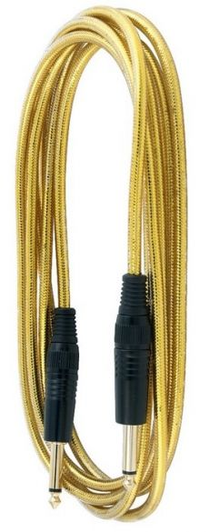 Cabo Rockcable RCL 30203 TCD | Para Instrumento | P10 X P10|3M| Gold
