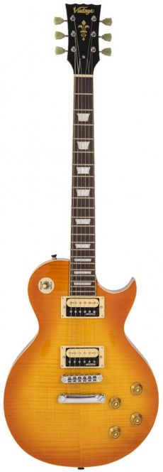 Guitarra Vintage V100 THB | Flamed Maple | Thru Honeyburst (THB)