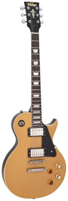 Guitarra Vintage V100 MR JBM | Joe Bonamassa | Relic | Gold Top
