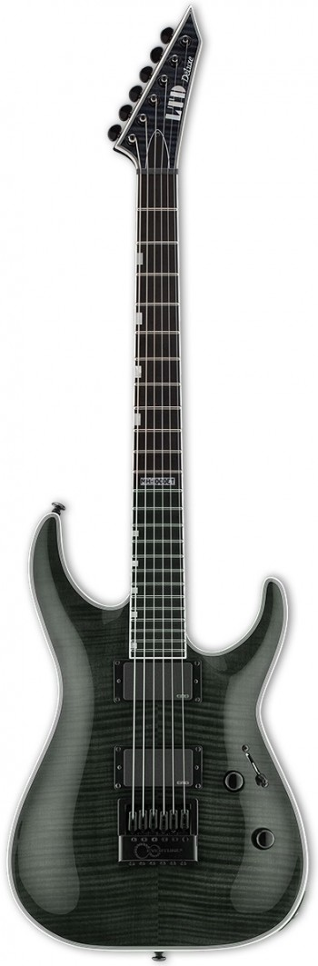 Guitarra ESP LTD MH-1000ET FM | EMG | EverTune | See Thru Black (STBLK)  - foto principal 1