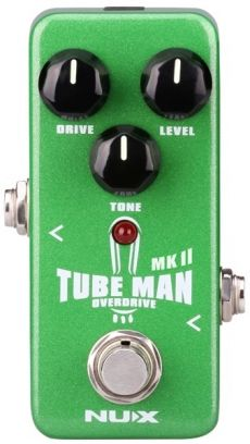 Pedal Nux Mini Tube Man MKII | Overdrive | Para Guitarra