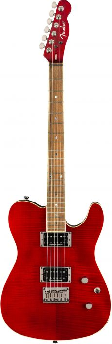 Guitarra Fender Custom Telecaster FMT HH LR | 026 2004 | Crimson Red Transparent (538)