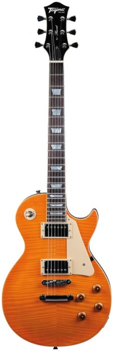 Guitarra Tagima TLP Flamed | LP | Case | Transparent Amber