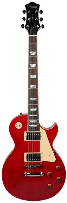 Guitarra Tagima TLP Flamed | LP | Case | Transparent Red (TR)