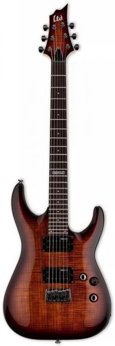 Guitarra ESP LTD H-101 FM | Ponte Fixa | Dark Brown Sunburst (DBSB)