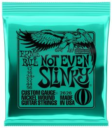 Encordoamento Ernie Ball Not Even Slinky | 6 Cordas | Para Guitarra | 012/056