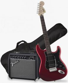 Kit Fender Squier Guitarra Affinity Stratocaster Pack HSS | 037 1824 | Frontman 15G | Candy Apple Red (009)