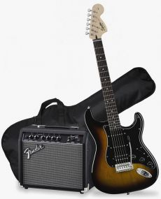 Kit Fender Squier Guitarra Affinity Stratocaster Pack HSS | 037 1824 | Frontman 15G | Brown Sunburst (032)