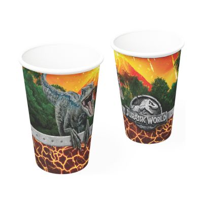 Copo de Papel Jurassic World 200 ml - 8 unidades