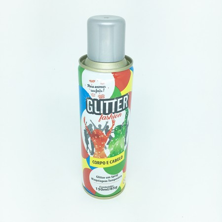 Spray Glitter Fashion Prata