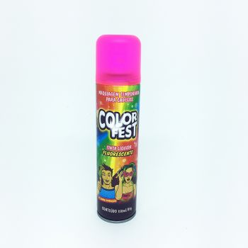 Tinta em Spray Color Fest Fluorescente Pink - 150 ml