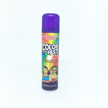 Tinta em Spray Color Fest Fluorescente Roxo- 150 ml