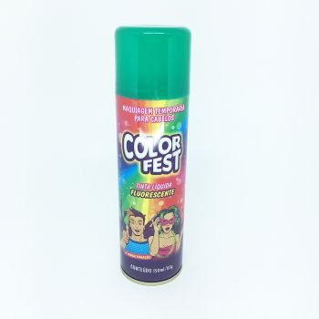 Tinta em Spray Color Fest Fluorescente Verde- 150 ml