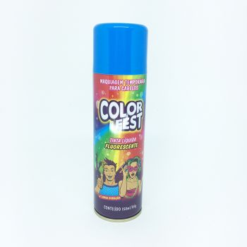 Tinta em Spray Color Fest Fluorescente Azul- 150 ml