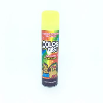 Tinta em Spray Color Fest Fluorescente Amarelo- 150 ml