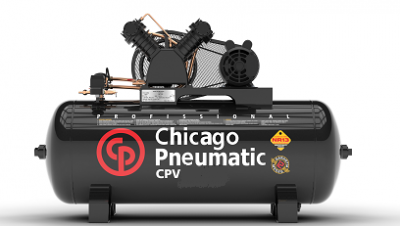 Compressor de ar - CPV 20/200 MP - 20 pés 140 libras 200 litros - 5 cv - 8969010009 - Chicago Pneumatic