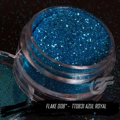 Flake Pó 008'' - Azul Royal - TT0831  - foto 5
