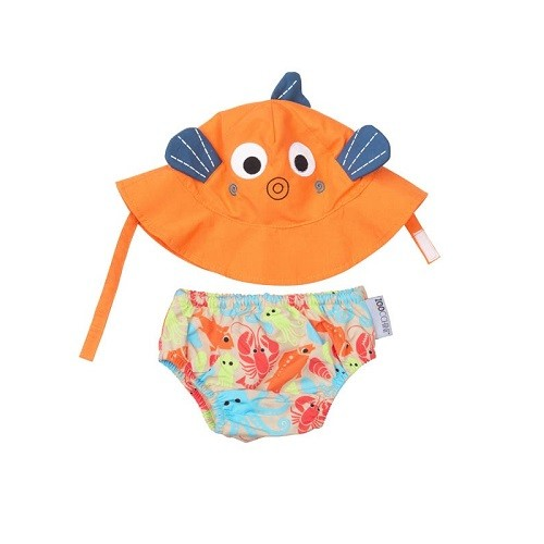 KIT PRAIA PISCINA ZOOCCHINI FISH COM FPS 50+
