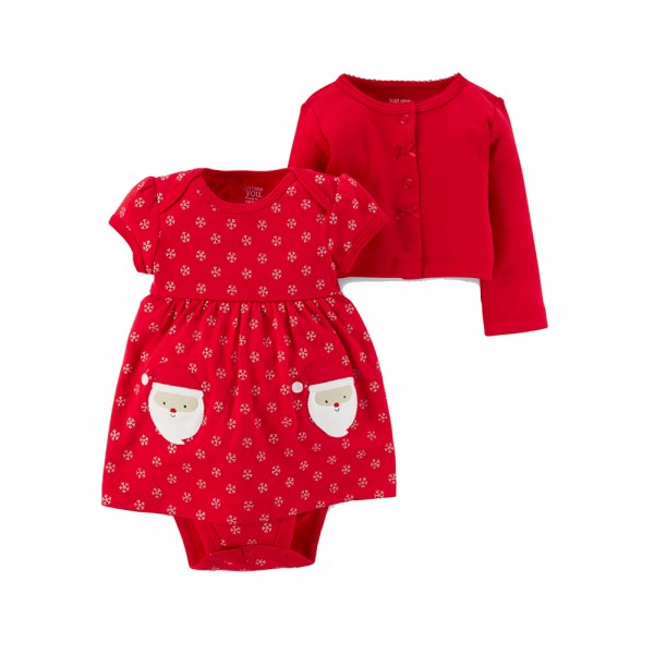 VESTIDO PAPAI NOEL COM CARDIGAN JUST ONE YOU BY CARTER'S