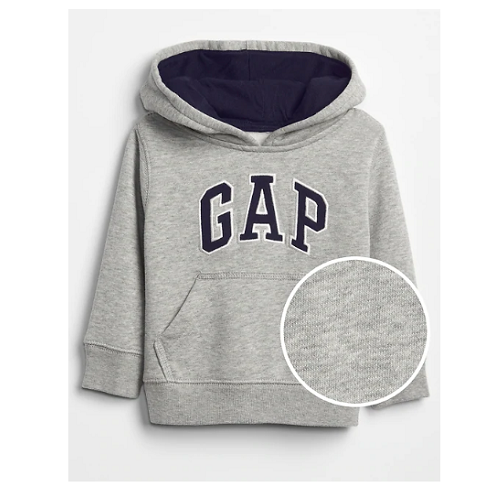 MOLETOM COM CAPUZ GAP GREY