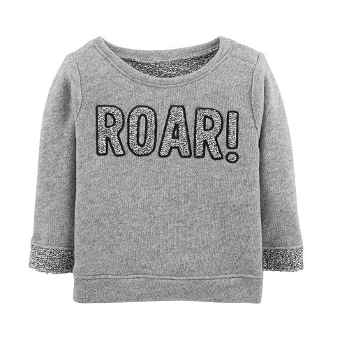 MOLETOM CARTER'S ROAR GREY