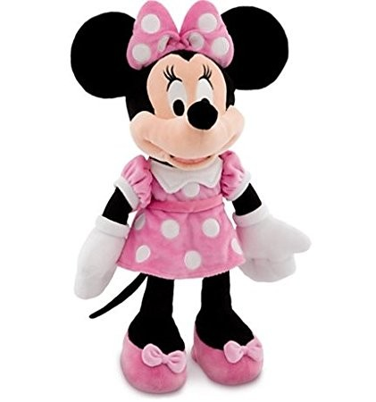 MINNIE MOUSE PELÚCIA DISNEY ROSA  45CM