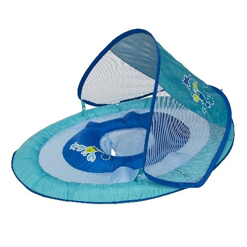 BOIA COM CAPOTA SWIMWAYS UPF 50 BLUE