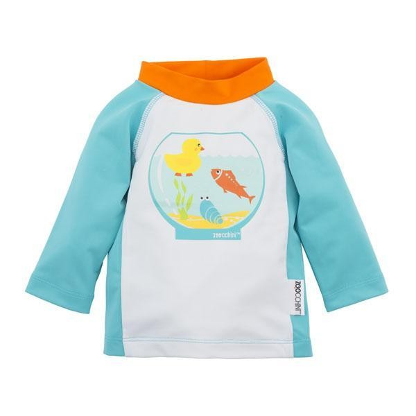 Camiseta De Banho Zoocchini Aquarius Friends Com Fps 50+