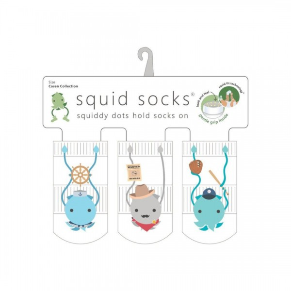 KIT MEIA SQUID SOCKS 3 PARES CASEN