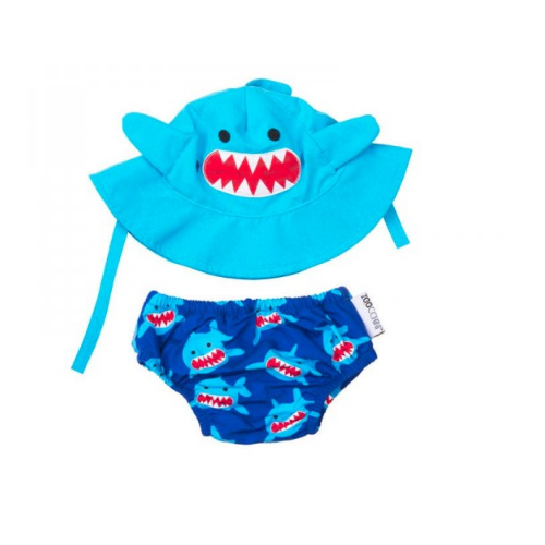 KIT PRAIA E PISCINA ZOOCCHINI SHARK COM FPS 50+