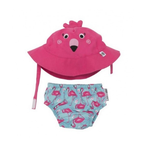 KIT PRAIA E PISCINA ZOOCCHINI FLAMINGO COM FPS 50+