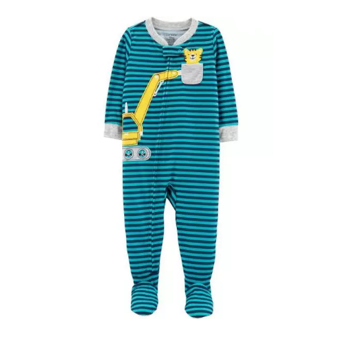 MACACÃO CARTER'S PJS CONSTRUCTION STRIPED