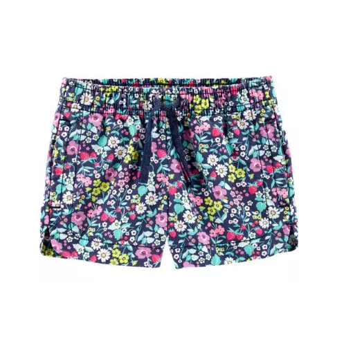 SHORT CARTER'S FLORAL NAVY