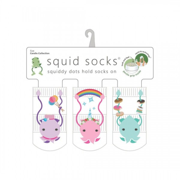 Kit Meia Squid Socks 3 Pares Candie