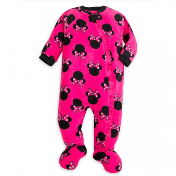 Macacão Fleece Disney Minnie Mouse Pink
