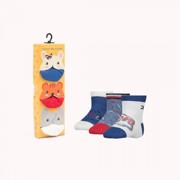 Meia Kit 3 Pares Tommy Hilfiger Baby Boy