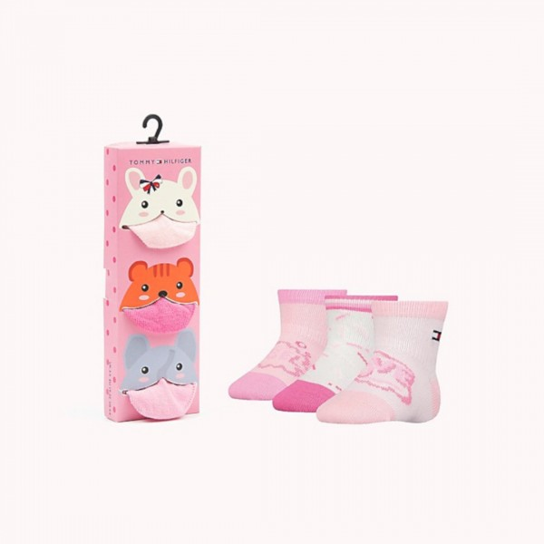 Meia Kit 3 Pares Tommy Hilfiger Baby Girl