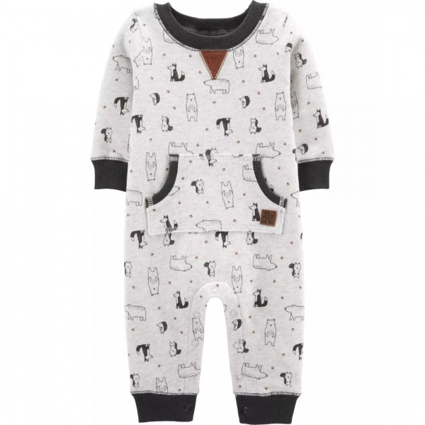 Macacão Carter's Jumpsuit Dog Fleece