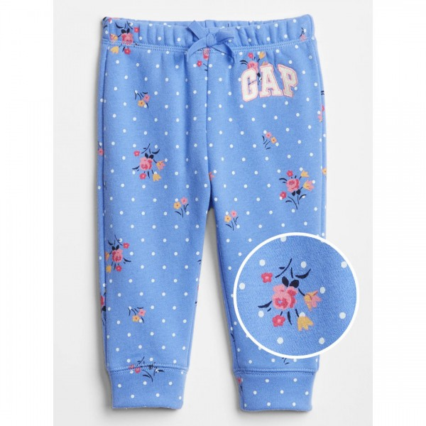 Calça Gap Moletom Flowers Blue