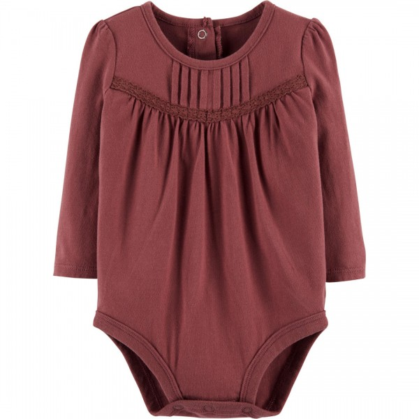 Body OshKosh Manga Longa Bordeaux