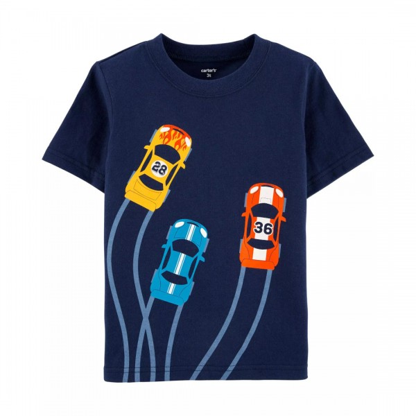 Blusa Carter's Manga Curta Race Car