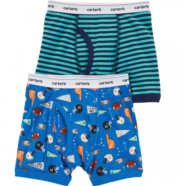 Kit Cueca Carter's 2 Peças Boxer Striped Football