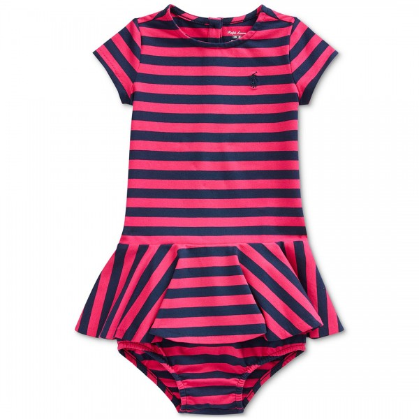 Vestido Ralph Lauren Striped Pink