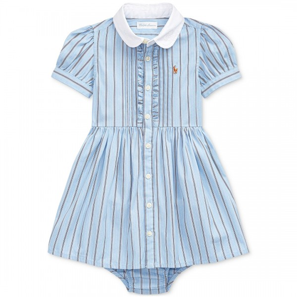 Vestido Ralph Lauren Striped Blue