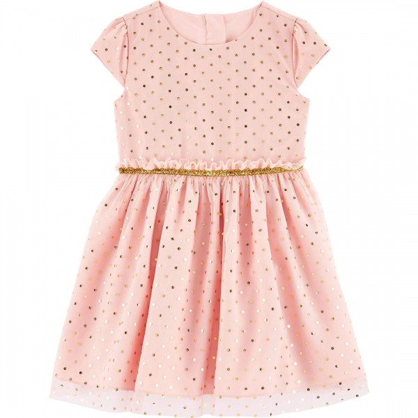Vestido Carter's Holiday Polka Dot Rosa Kids