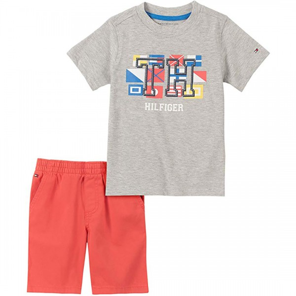Conjunto Tommy Hilfiger Short Grey