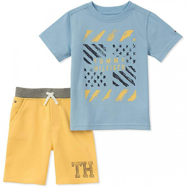 Conjunto Tommy Hilfiger Short Yellow
